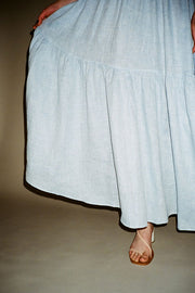 White & Blue Carmen Skirt