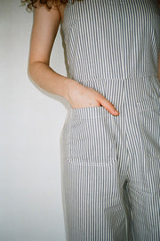 Blue Striped Sailor Jumpsuit