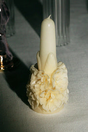 Cream Baby Bouquet Candle