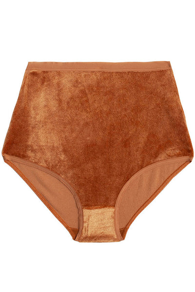 Camel Velour Highwaist Bell Pant