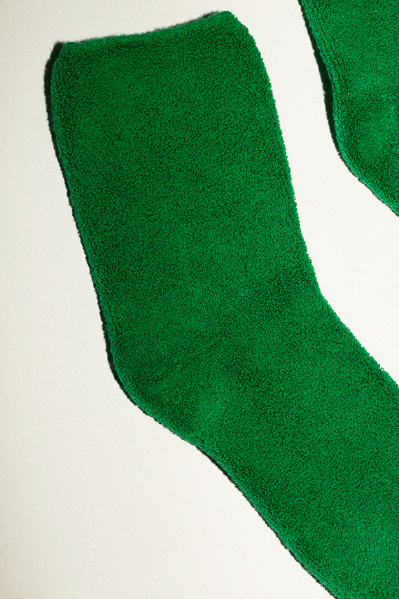 Green Buckle Overankle Sock