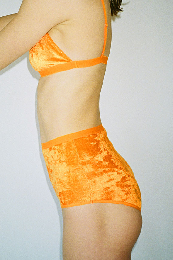 Isla Orange Velour Mississippi Bra