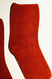 Orange Buckle Overankle Socks