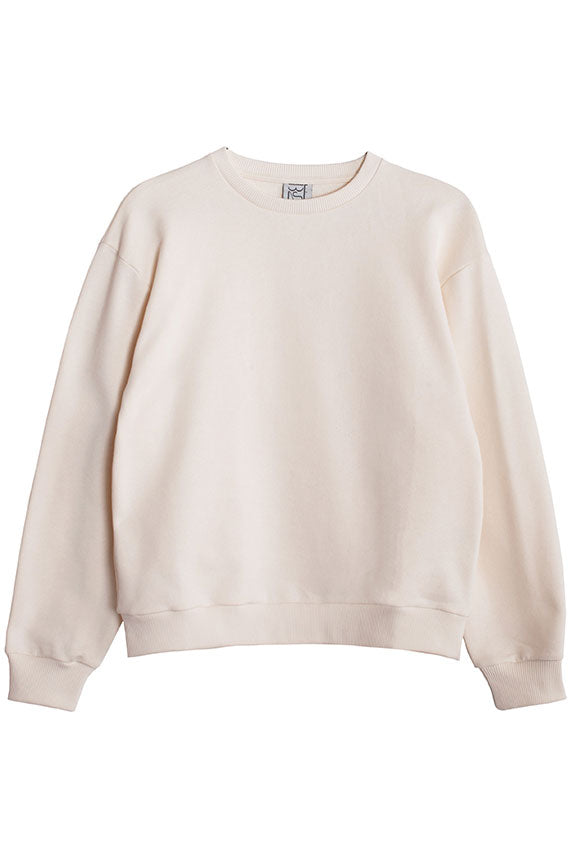 Off White Loose Sweat Shirt