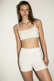 White Organic Terry Short