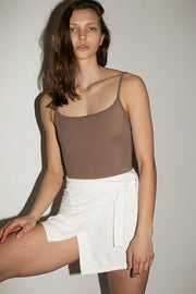 White Organic Terry Skirt