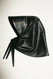 Black Lambskin Bonnet