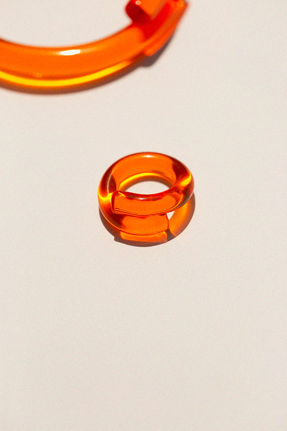 Orange Wrap Ring