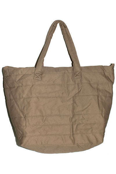 Taupe Puff Bag