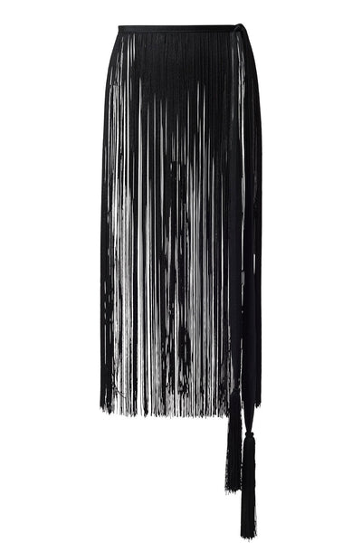 Rodebjer - Black Fringe Belt