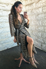 Leopard Wrap Dress