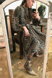 Leopard Printed Georgette Dress