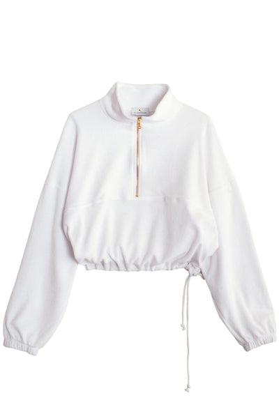 White Terry Diana Sweatshirt