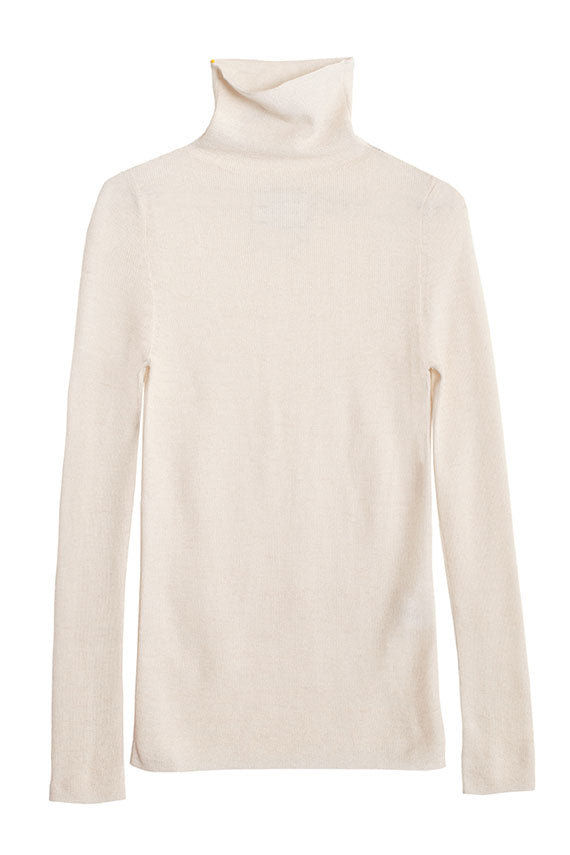 White Rib Turtleneck