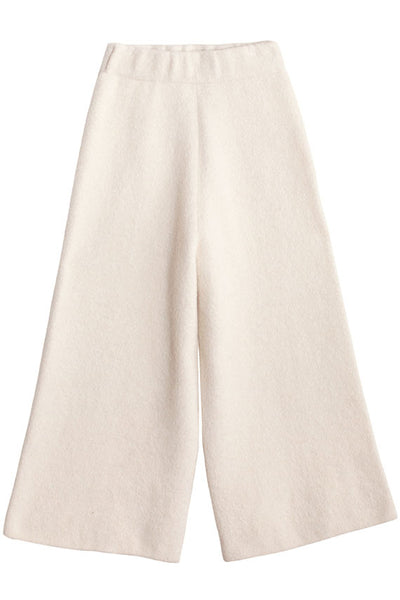 White Double Face Pant