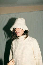 Raw White Fisherwoman Pullover