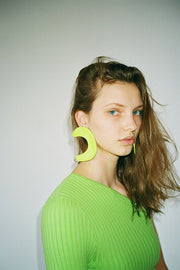Lime Green Shape Earrings