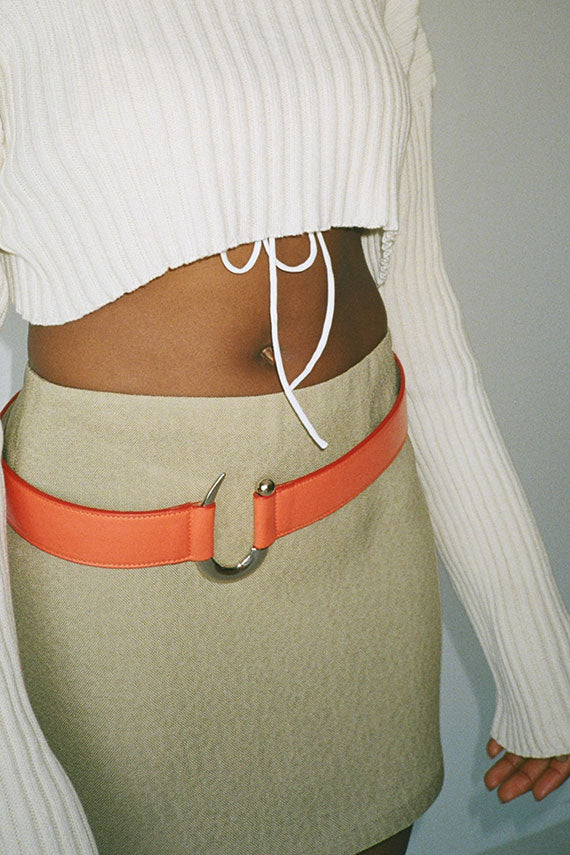 Poppy Calf Arrow Belt