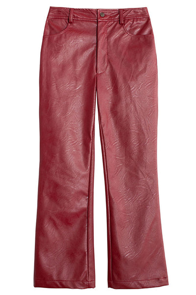 Oxblood Vegan Tuesday Jean