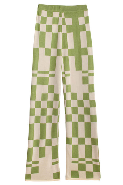 Green Check Puerto Pants