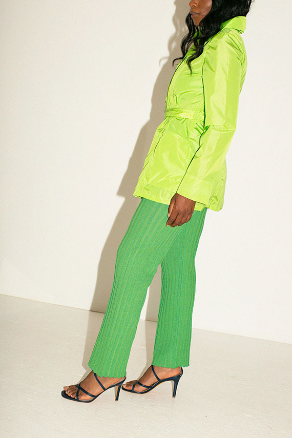Lime Green Sherlock Trench