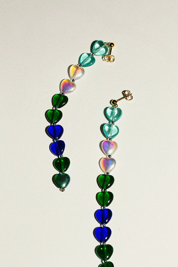 Blue Green McGuire Earrings
