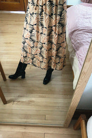 No. 6 Brown Fern Meg Skirt