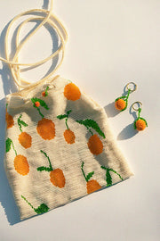 Beaded Tangerine Pouch