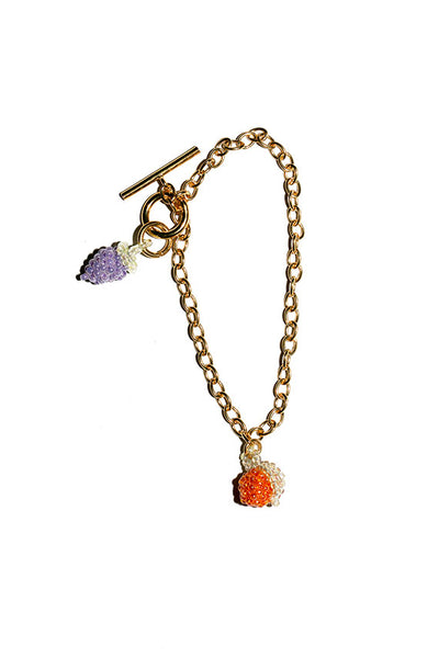 Orange and Grape Bracelet