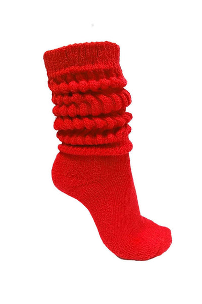 Red Slouch Socks