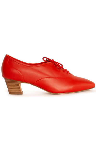 Red Leather Oxford