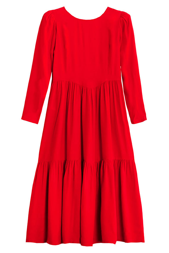 Red Silk Ophelia Dress