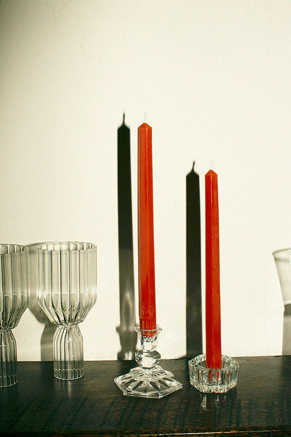 "Ember 10"" Hex Taper Candles"