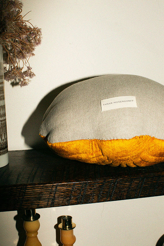 Small Cumin Velvet Shell Pillow