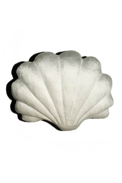 Small White Velvet Shell Pillow