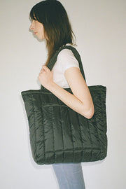 Black Puffy Tote