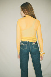 Sole Yellow Mesh Mockneck