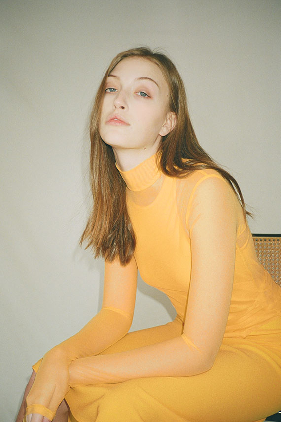 Nomia - Sole Yellow Mesh Mockneck
