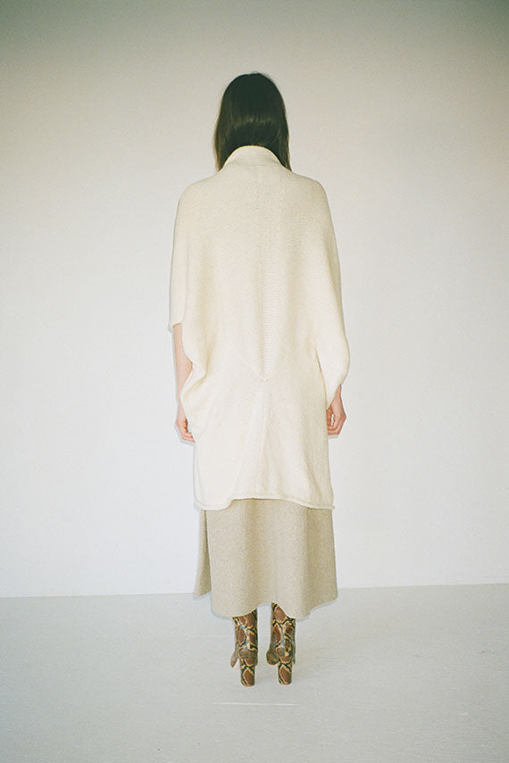 Raw White Drape Cocoon