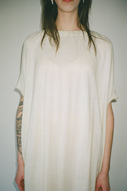 White Gather Dress