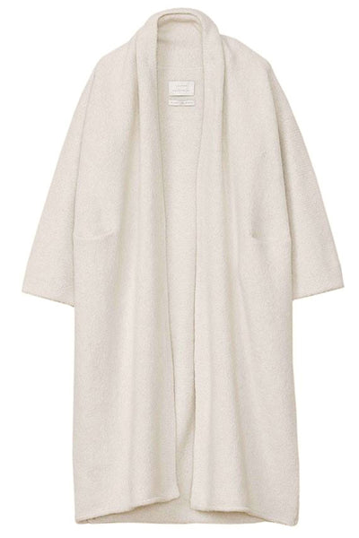 White Long Shawl Cardigan
