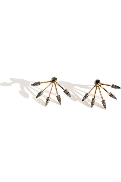 Black Diamond 5 Spike Earrings