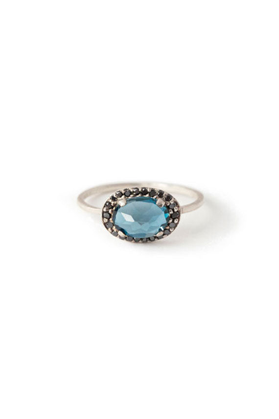 Blue Topaz Amulet Ring