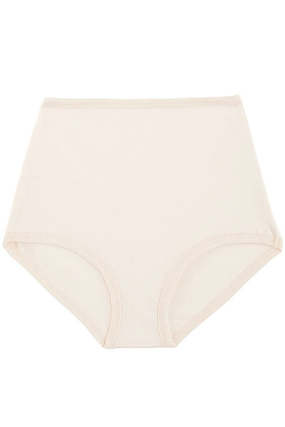 high rise panty in a natural cotton blend. Made in the USA