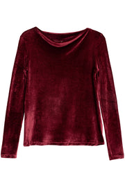 Baji Burgundy Velour Meji Top