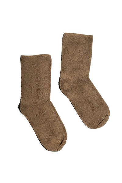 Bath Brown Buckle Socks