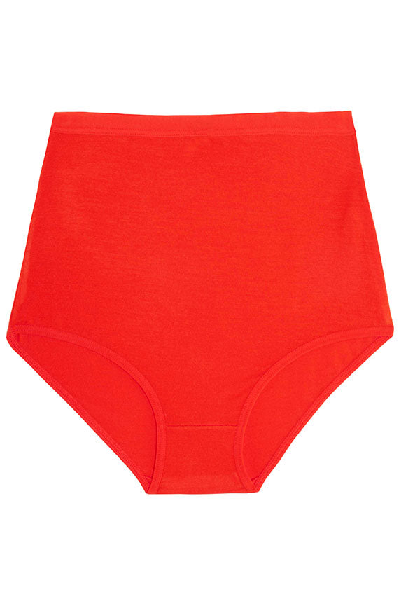 base range red high waist underwear