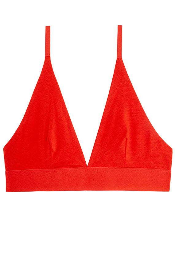 Helix Red Triangle Bra