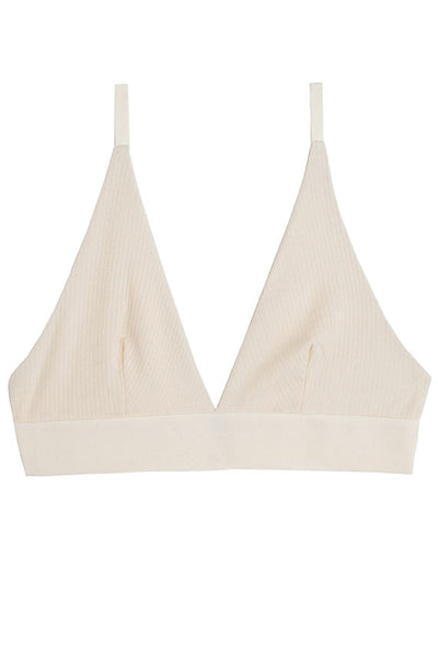 Off White Triangle Rib Bra