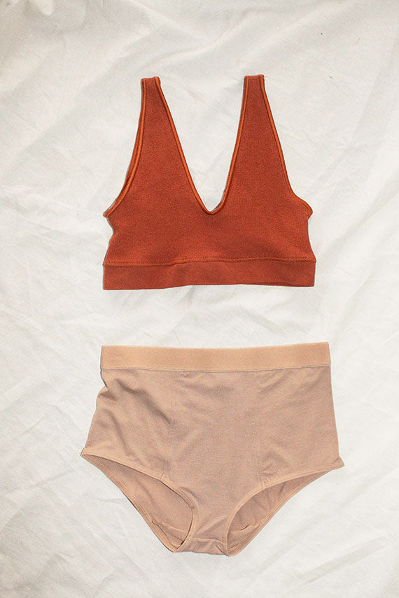 Rust Brown Aid Bra